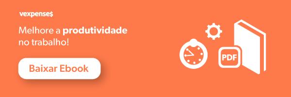 Banner oferecendo o download gratuito do eBook de como melhorar a produtividade no trabalho com dicas de saúde e bem-estar no trabalho, mostrando a imagem de um relógio, uma engrenagem e um livro, e um botão clicável com os dizeres Baixar eBook